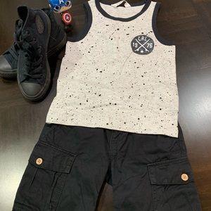 2 piece bundle Lucky Brand shorts 5 & H&M shirt .